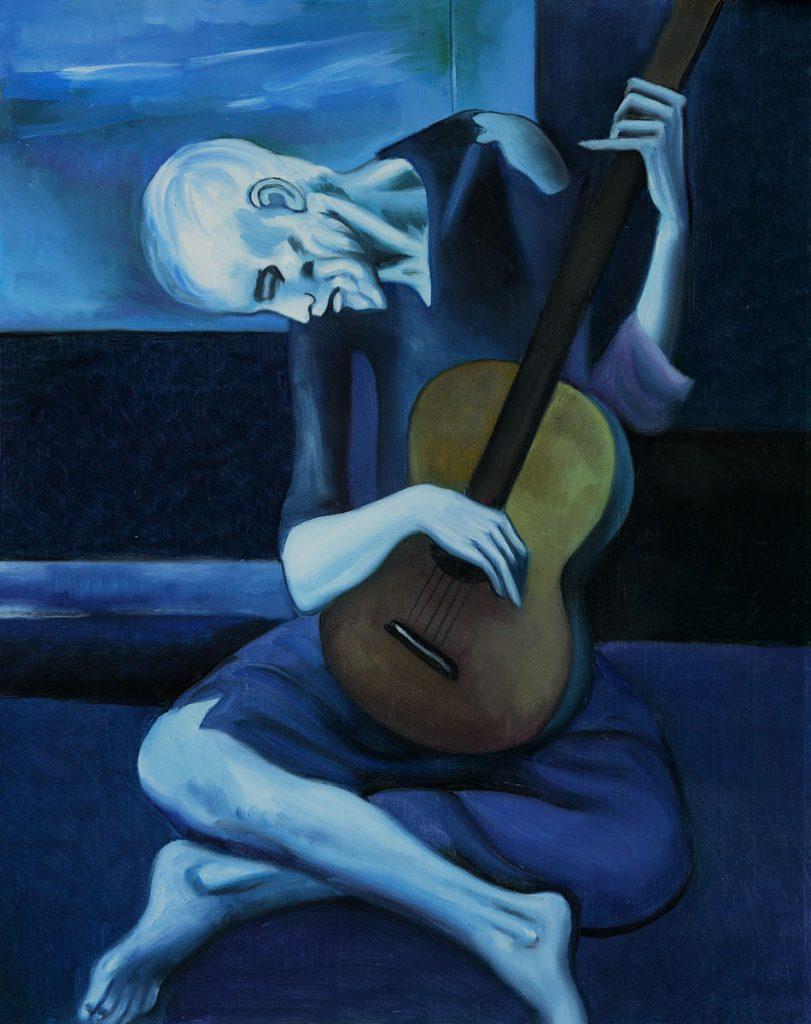 viejo con guitarra PICASSO