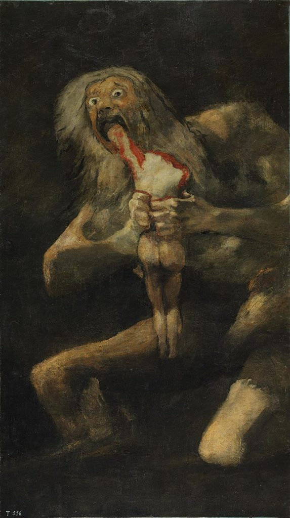 saturno devorando a su hijo
