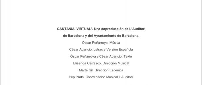 DESARROLLO CURRICULAR DEL PROGRAMA EDUCATIVO: 'CANTATA VIRTUAL'
