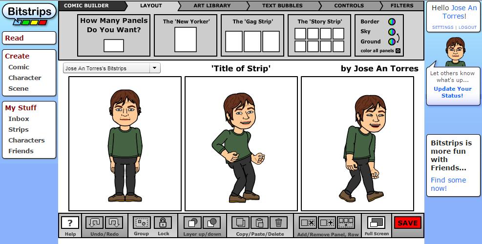 El creador de avatares da muchas posibildiades