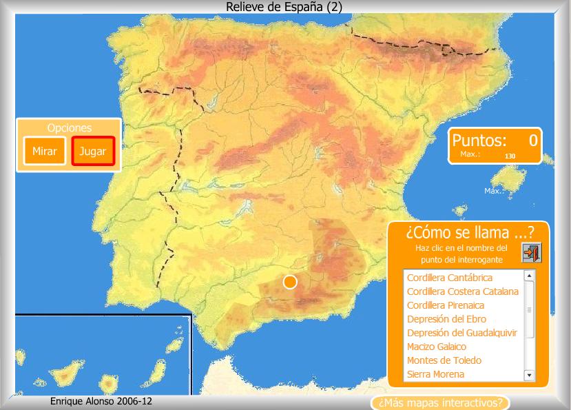 mapa relieve