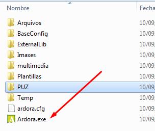 descomprimes el zip donde quieras tenerlo, y abres el programa desde Ardora.exe