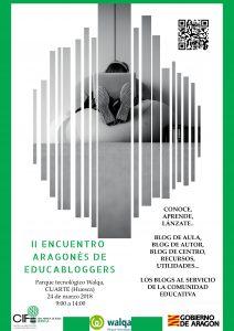 CARTEL ENCUENTRO ARAGONÉS EDUCABLOGGERS_HUESCA
