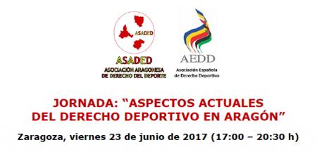 Aspectos actuales del Derecho deportivo en Aragón