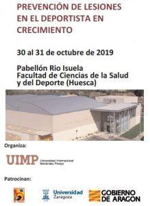 """Jornada """"Prevención de lesiones en el deportista en crecimiento"""" @ Pabellón Rio Isuela Facultad de Ciencias de la Salud y del Deporte (Huesca)"""