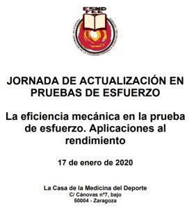 La eficiencia mecánica en la prueba de esfuerzo. Aplicaciones al rendimiento @ La Casa de la Medicina del Deporte Sede de la Sociedad Española de Medicina del Deporte