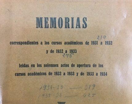 Memorias de la Universidad de Huesca