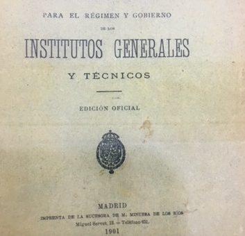 Reglamento para el régimen y gobierno de los Institutos generales y técnicos