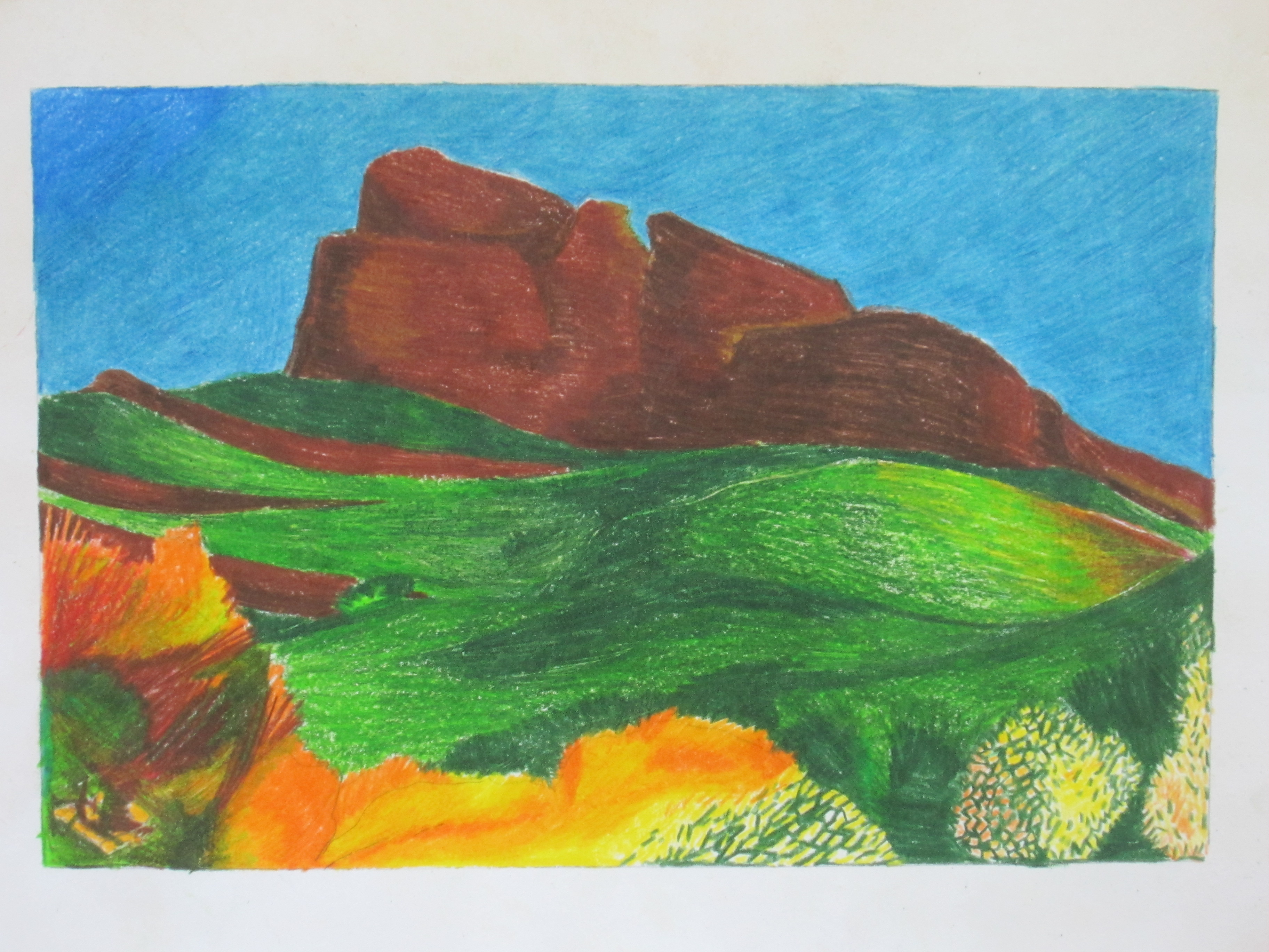 Mención especial: Daniel Pueyo. Lápices de colores.
